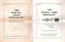 THE POSTAL CARD SPECIALIST - VOL. 1, # 2 & VOL. 1, #3 - 1972