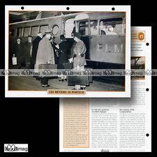 #110.02 Fiche Train - ANCIEN METIER : LE PORTEUR (Photo : Autorail BUGATTI PLM)