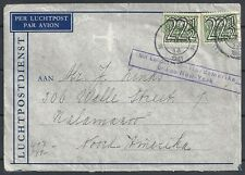 Netherlands covers 1941 cens Airmailcover to Kalamazoo