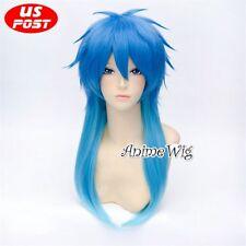 Anime Dramatical Murder Seragaki Aoba Mixed Blue Layered Halloween Cosplay Wig