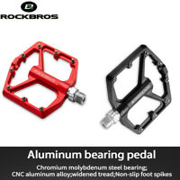 ROCKBROS Bicycle Platform Flat Pedals MTB Bike Pedals Cycling Pedals 9/16-Inch