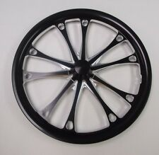 "Jr. Dragster Black Beast 16"" Front Wheels Set of 2 with Tires & Tubes Mounted"