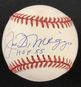 Joe DiMaggio Signed Baseball Bob Brown Yankees Autograph HOF 55 Inscription BAS