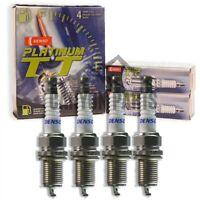New 4 pc Denso Platinum TT Spark Plugs for Toyota Corolla 1.6L 1.8L L4 1993-2008