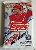 ✅⚾️🔥2021 Topps Series 1 Baseball Pack- 16 Cards Per Pack