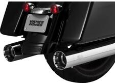 "Blemished Vance & Hines Chrome 4.5"" Oversized 450 Slip-On Mufflers Harley M8 FL"