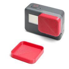 Protezione lenti per GoPro Go Pro Hero 5 LENS CAP Protector Copertura Cappuccio Red