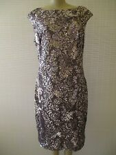 $340 LAUREN RALPH LAUREN GRAY SEQUIN SLEEVELESS COCTAIL DRESS SIZE 16 - NWT
