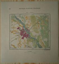 1880 Perron map WARSZAWA WARSAW, POLAND (#84)