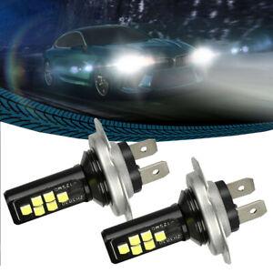 2x White H7 LED Car Light Car Headlight Bulbs High Low Beam 240W 52000LM 6000K