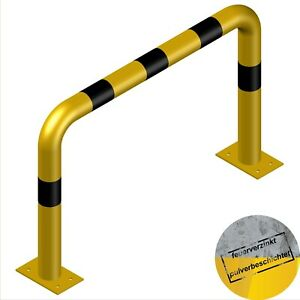 Schutzbügel Stahl Anfahrschutz Rammschutzbügel 1000/650mm Stahl verzinkt gelb XL