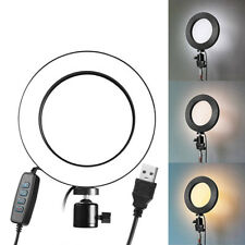 LED Ring Light Dimmable USB 5500K Fill Lamp Photography Phone Video Liv KY