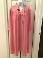 VANITY FAIR Womens Medium Nylon Sleepwear Set Sleeveless Nightgown & Robe Coral