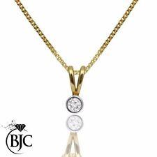 Yellow Gold Round VS2 Fine Diamond Necklaces & Pendants