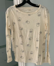 Madewell for Alexa Chung Cream / White Printed Long Sleeve Shirt, Size S