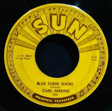 CARL PERKINS~Blue Suede Shoes & Honey Don't-1956 Rockabilly 45-SUN #234