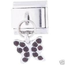 Dark Red Gem Butterfly -  DAISY CHARM Italian Charm fits Classic size Bracelet