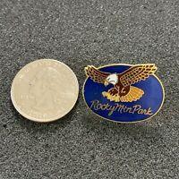 Rocky Mountain Park Bald Eagle Travel Souvenir Pin Pinback #38385