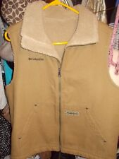 Columbia Timber Grit Sherpa Lined Canvas Vest Men'S M/L Euc
