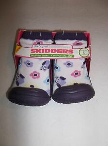 The Original Skidders Girl's Purple  SkidProof Shoes Size 8 (24 Months)