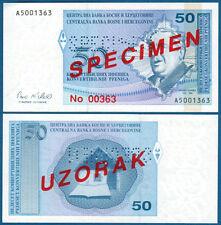 BOSNIEN H. / BOSNIA H. 50 Pfeniga (1998) Specimen UNC  P. 58 s