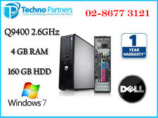 Dell Optiplex 760 Small Form Factor Q9400 2.66GHz 4G 160G Win7 Pro 1 Yr Warranty