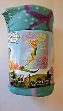 "Tinker Bell Sparkly Fleece Blanket 50"" x 60"" NEW"