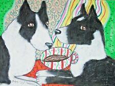 Karelian Bear Dog Art Print 5 x 7 Collectible Signed by Artist Ksams