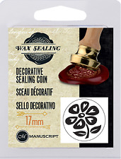 DAISY FLOWER PETALS LOGO DECORATIVE SEALING WAX COIN SEAL FOR BLANK HANDLE 37FLW