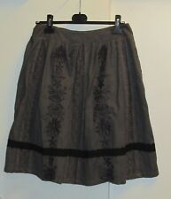 Noa Noa dark grey & black autumn winter skirt with lace size S as new