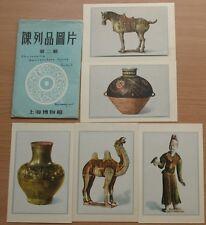 Chinese Photo POST CARD Set Shanghai Ceramic 6 Art Urn Vase Figurine Plate Rare