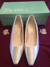 White Satin Wedding Shoes Size 5 1/2- New