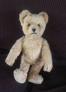 """Vintage 1930's Schuco Yes No Bear 13"""" Bear Mohair Intact Works Must See Antique"""