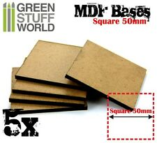 5x MDF Bases - Square 50mm - Thickness 3mm Basing Laser Cut Wargames Monster