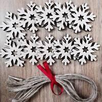Wooden Snowflake Shapes Lasercut Craft Xmas Wedding 10 Pack,6 cm decoration