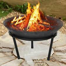 More details for outdoor fire pit and bbq bowl round garden patio extra large barbecue grill uk