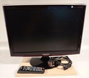 "Samsung SyncMaster T220HD 22"" HD TV Television / PC Monitor Black w/ Remote"