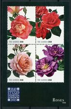 Gambia Flowers Stamps 2015 MNH Roses Rose Flora Europhilex London 4v M/S
