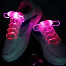 Pink Coloured LED Bright light up waterproof shoelaces for trainers shoes