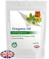 Oregano Oil 25mg (30/60/90/120/180 Capsules) Anti-fungal, Ancient Antibiotic, UK