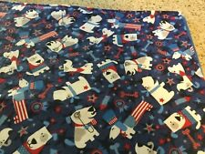 Handmade flannel pet blanket, patriotic dogs!