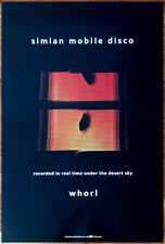 SIMIAN MOBILE DISCO Whorl Ltd Ed Discontinued RARE Poster +FREE Dance Pop Poster