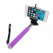 Purple Extendable Selfie Stick Adjustable Holder For Sony Xperia XZ XA X Compact