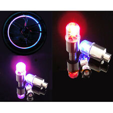 4Pcs Flash Bike Bicycle Car Wheel Tire Tyre Valve Cap Neon Lamp LED Light Bulb