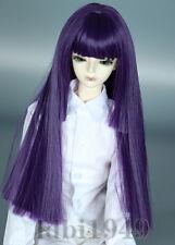 "1/3 8-9"" Bjd Wig Dal Pullip BJD SD LUTS MSD DOD DD Dollfie Doll wig Purple wig"