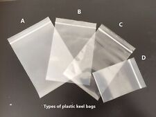 45 PE-grade clear ziplock bags for packaging of foods, medicine, parts and more!