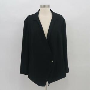 M.M.LaFleur Blazer Jacket Womens +2 Plus Size 2X The Wells Wrap Black Career