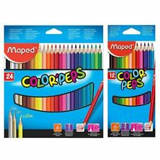 Maped Colour Peps 12/24 High Quality Easy Grip Colouring Pencils FREE SHIPPING