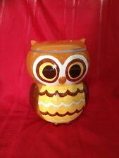 ORANGE AND BROWN OWL COOKIE JAR - New