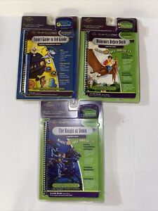 Quantum Leap Pad Lot Of 3 Interactive Books And Cartridges Brand New 3-5 Grade